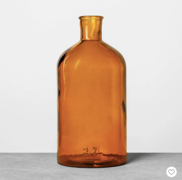 Farmhouseish - Amber Glass Vase
