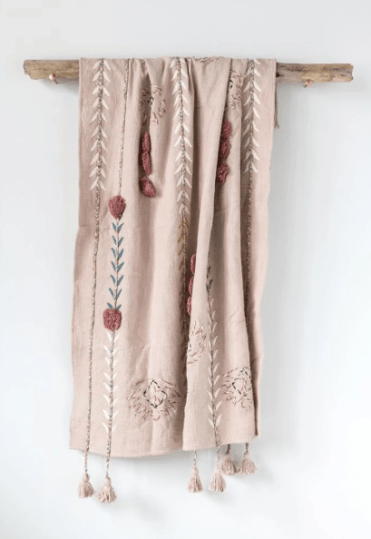 Farmhouseish - Fall Blush Throw