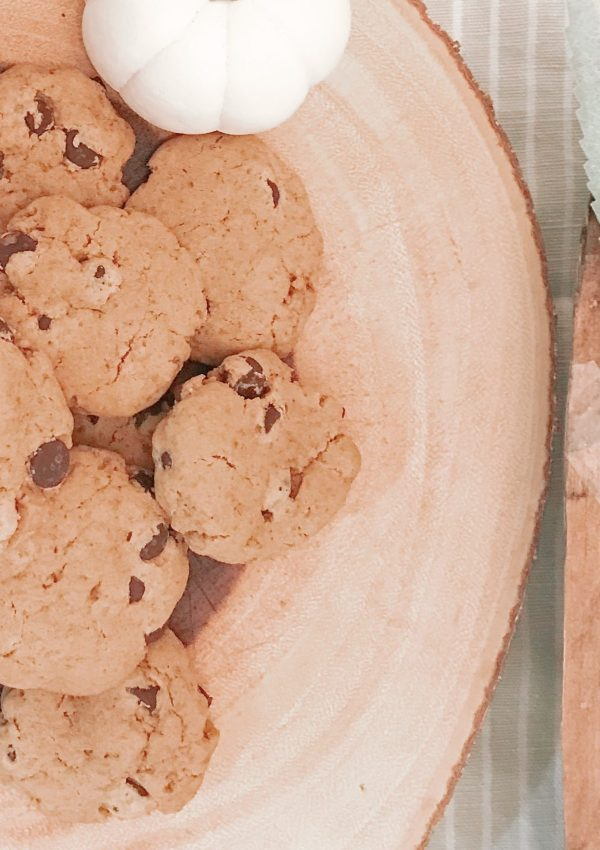 Healthy(ish) Gluten-Free, Dairy-Free Pumpkin Dark Chocolate Chip Cookie Recipe