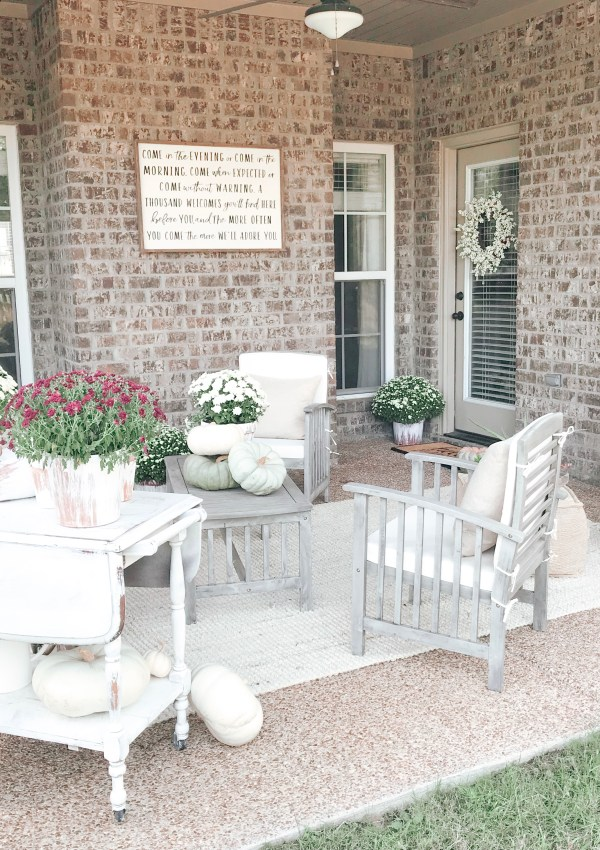 How I Styled My Porch For Fall On A Budget