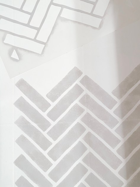 Farmhouseish - DIY Floor Tile Stencil