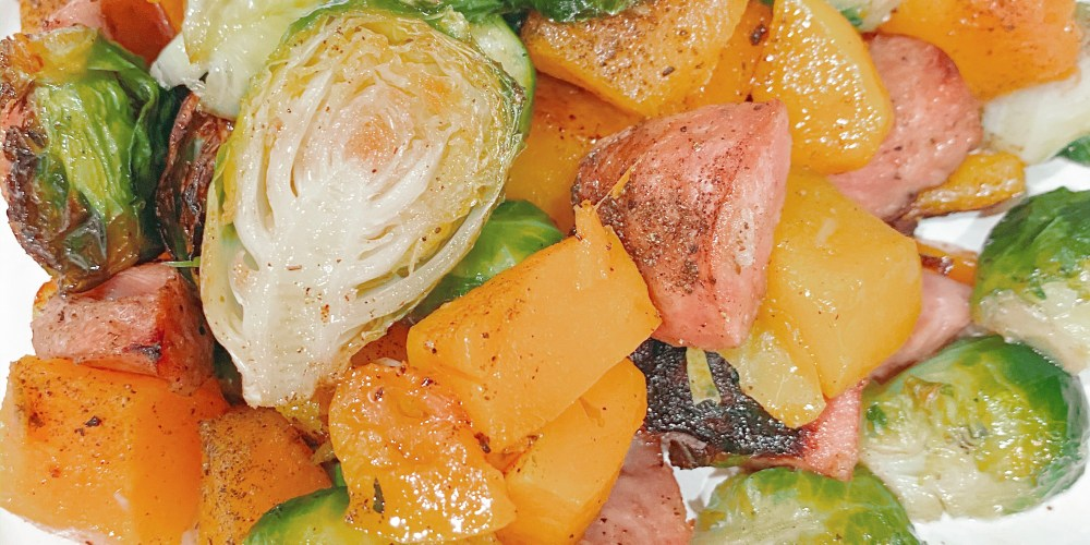Farmhouseish - Sausage & Squash One Sheet Pan Recipe
