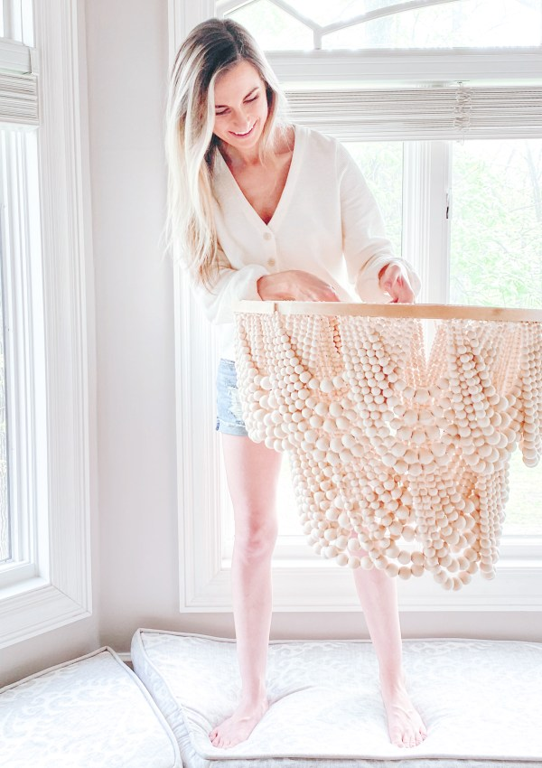 How I Made My Own Farmhouse Beaded Chandelier & Saved Hundreds In The Process