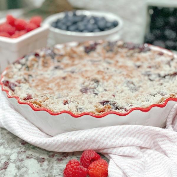 Farmhouseish - Gluten-Free Triple Berry Pie