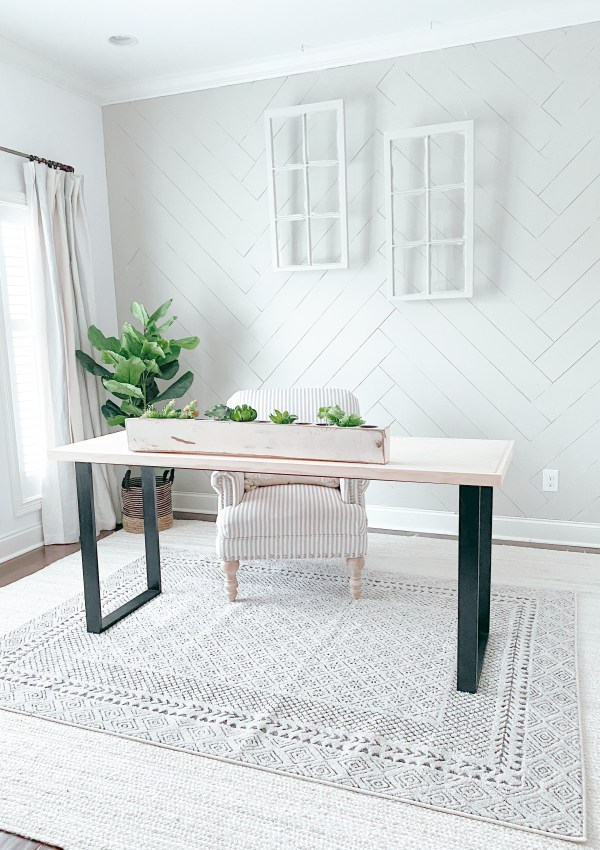How We Created A Herringbone Feature Wall For Less Than $150 (And How You Can Too)