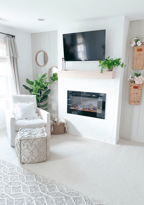 How I Built A Fireplace From Scratch To Create The Perfect Cozy Space