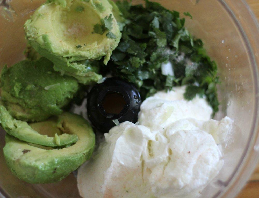 mexican hash avocado crema