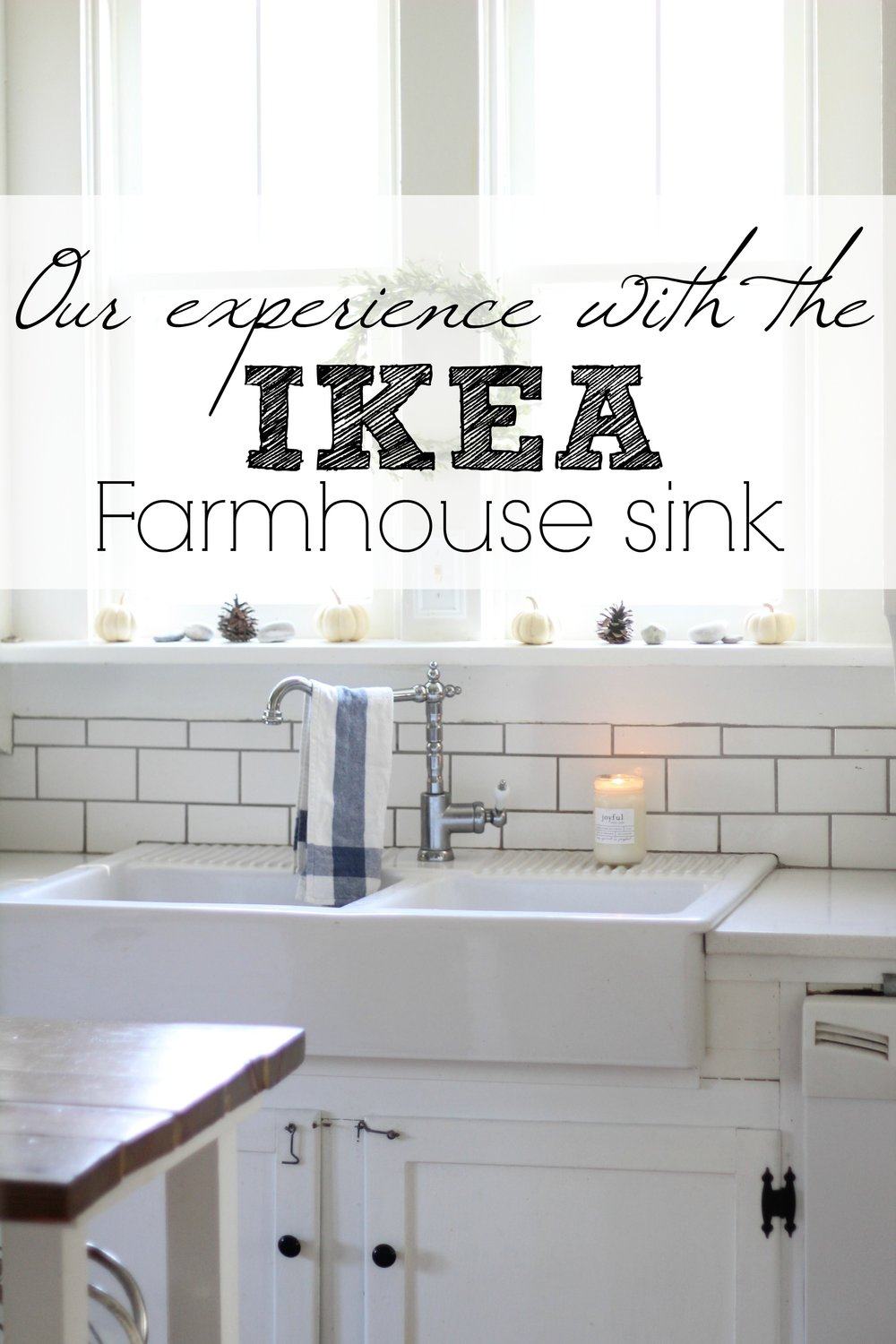 Interior Ikea Apron Front Sink our experience with the ikea domsjo double bowl farmhouse sink rewind back a few years ago when i started thinking about redoing whole kitchen wasnt sure if money was in budget