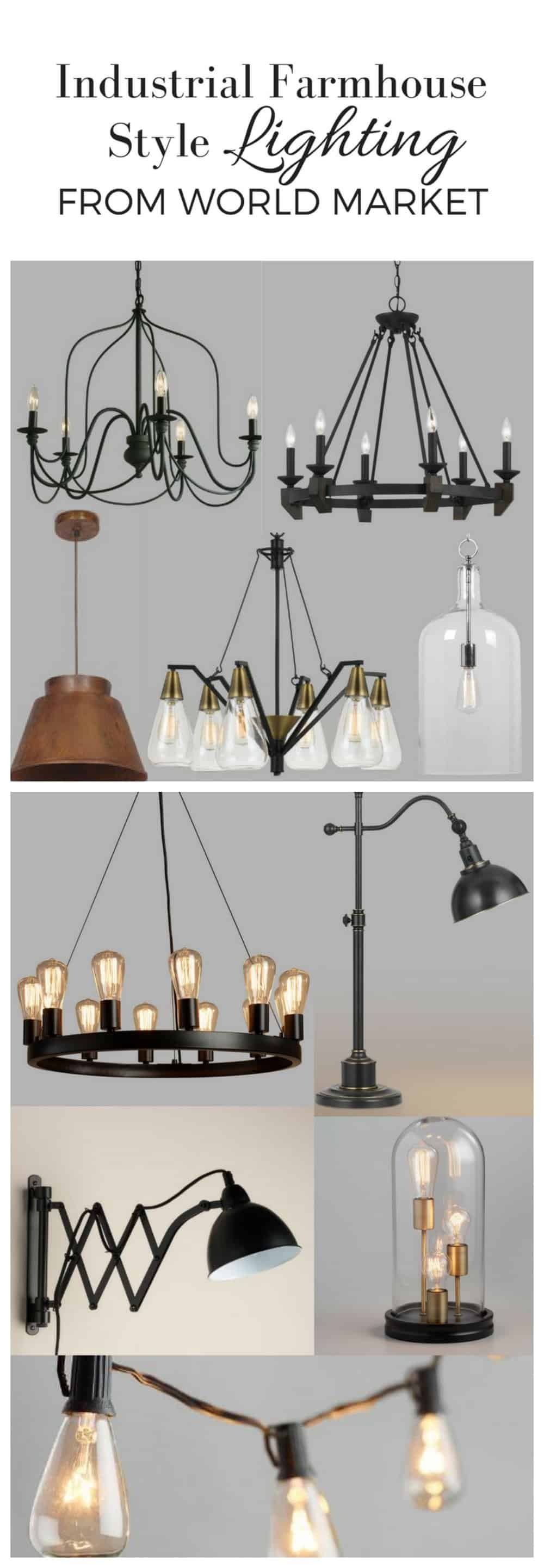 Industrial Farmhouse Style Lighting from World Market Farmhouse