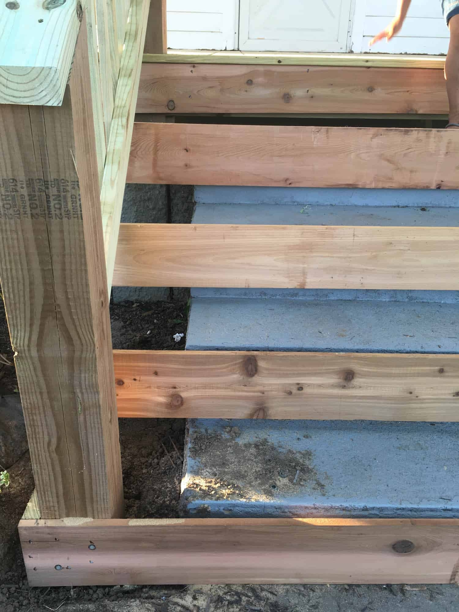 How To Cover Concrete Steps With Wood Farmhouse On Boone | Stairs Covered In Wood | Round | Interior | Metal | Random | Luxury