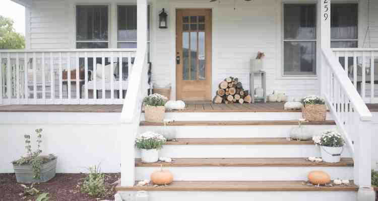 Fall Farmhouse Front Porch