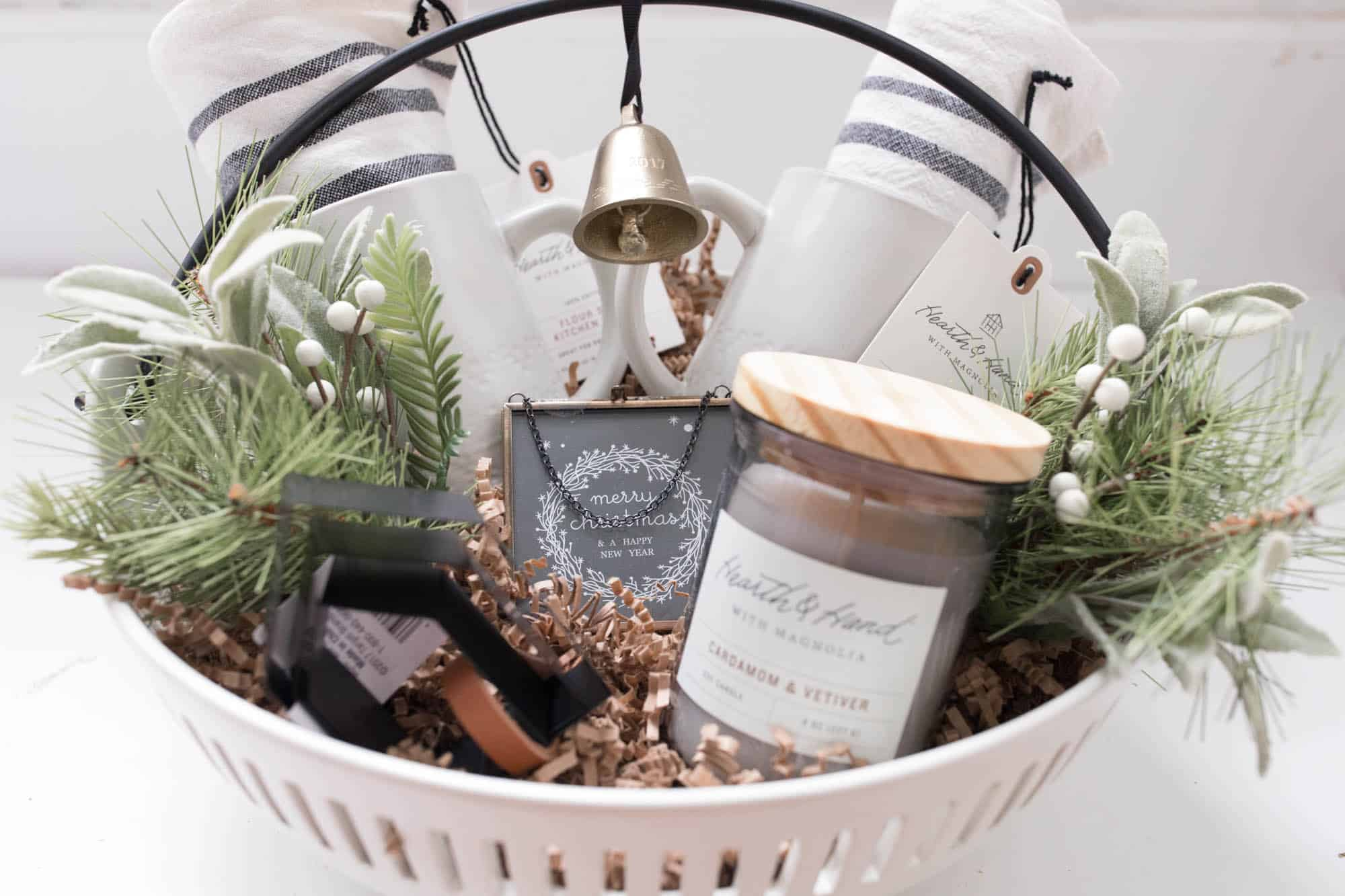 Hearth and hand gift basket gift guide for the farmhouse decor hearth and hand gift basket idea for the farmhouse decor lover on your list negle Images