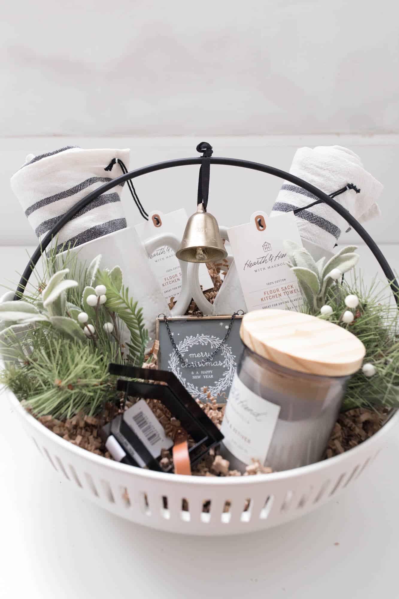 Hearth and Hand Christmas Gift Basket Idea for the Farmhouse Decor Lover on Your List