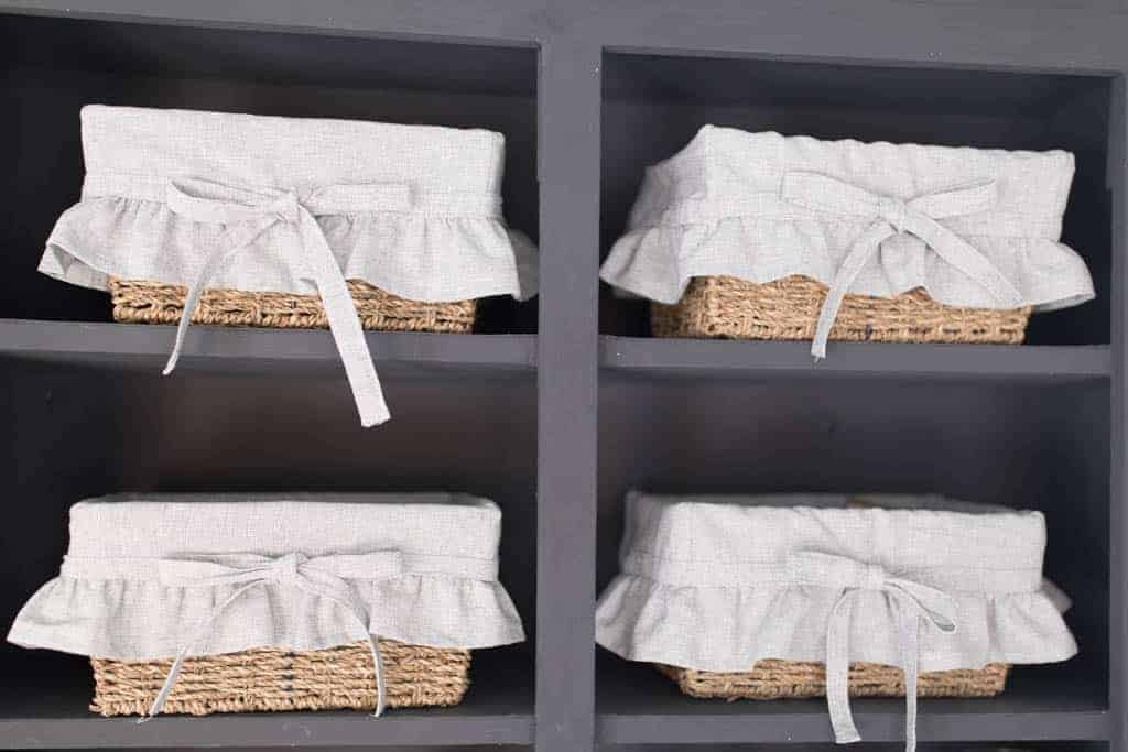 how to sew basket liners