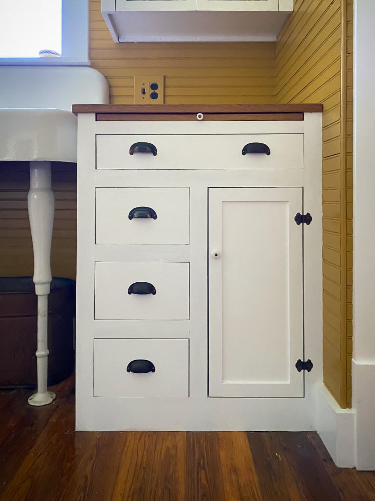 lower historic kitchen cabinet