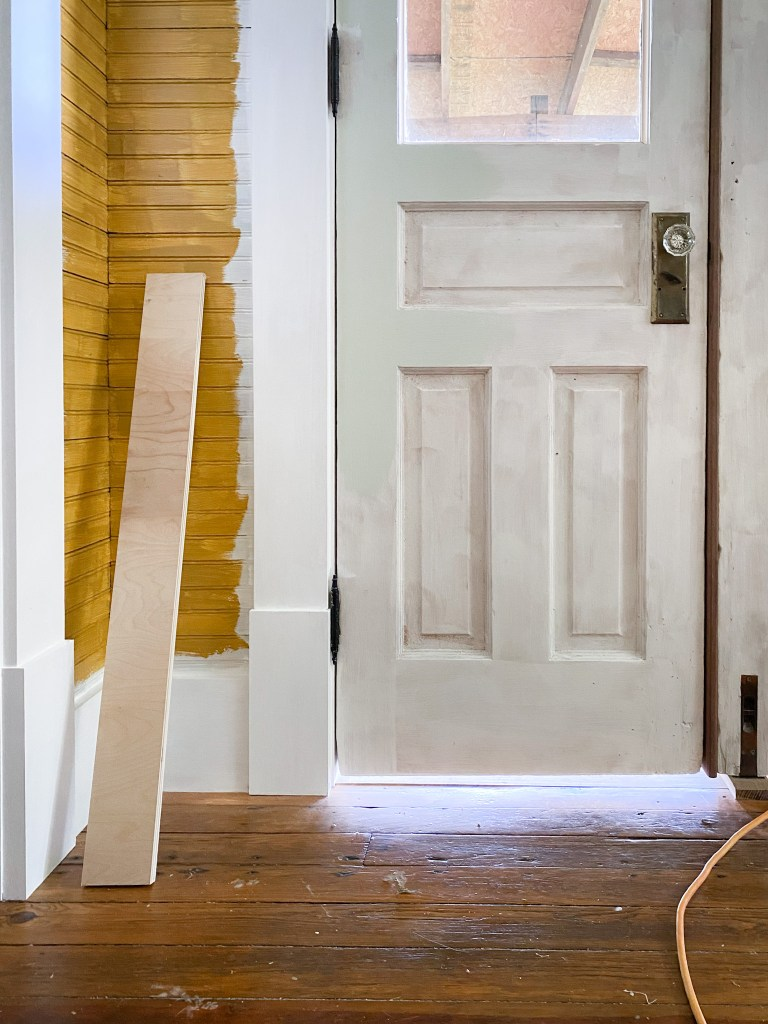 painting beadboard by door