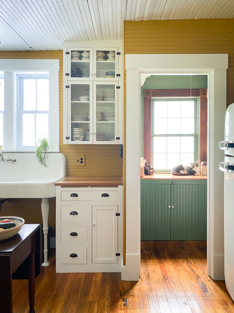 victorian kitchen cabinets and pantry