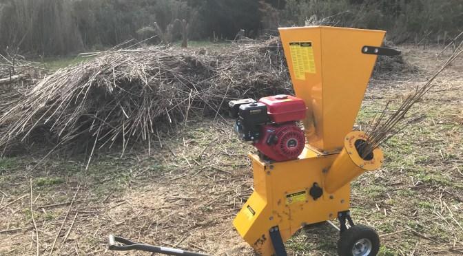 【桜絆プロジェクト】伐採した笹を粉砕