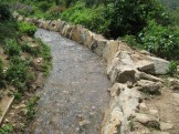 Stone lined main irrigation canal