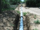 New irrigation pipeline made by Red Cross