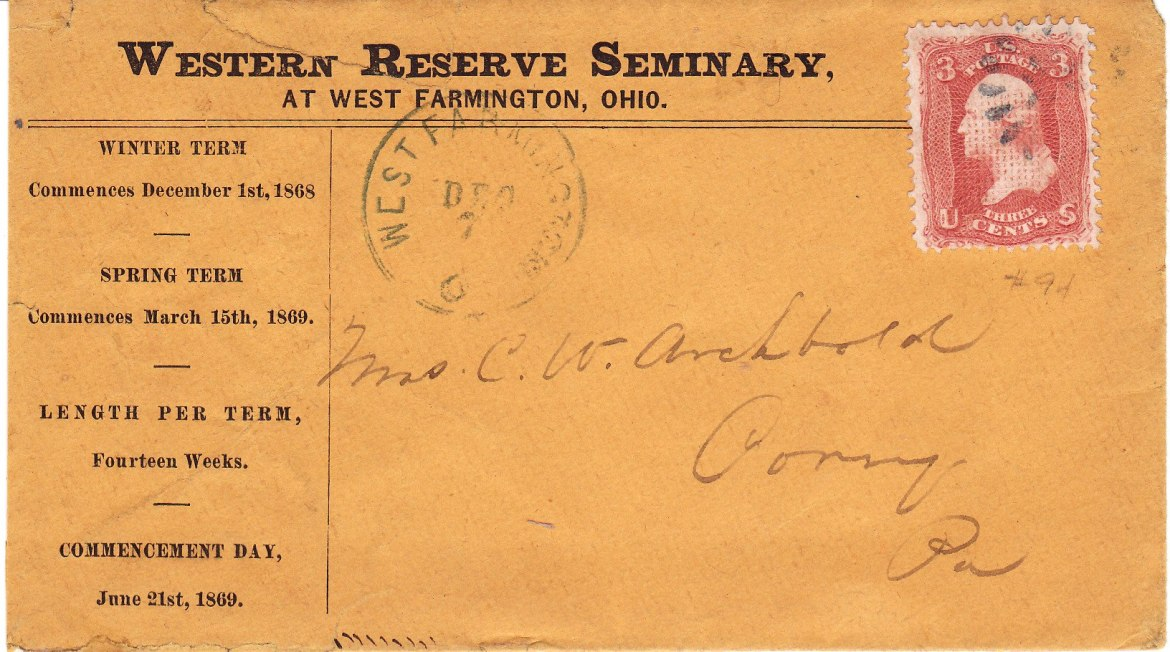 Western Reserve Seminary mailing