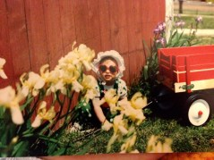 That's me. What farm kid didn't have a red wagon?