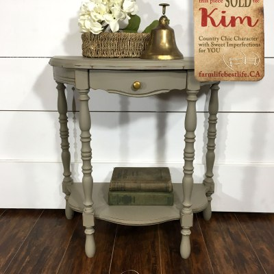 A half moon table that will warm both your heart and home!
