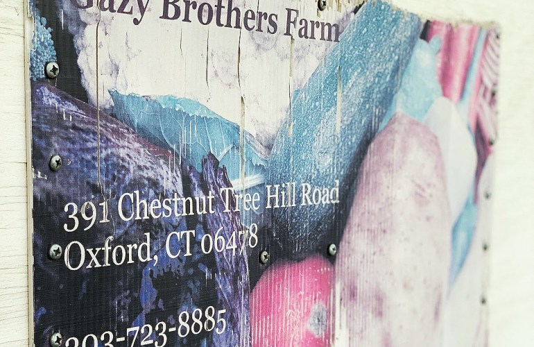 Gazy Brothers farm sign
