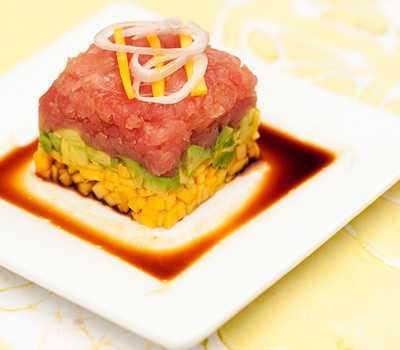 Tuna Tartar with Mango and Avocado