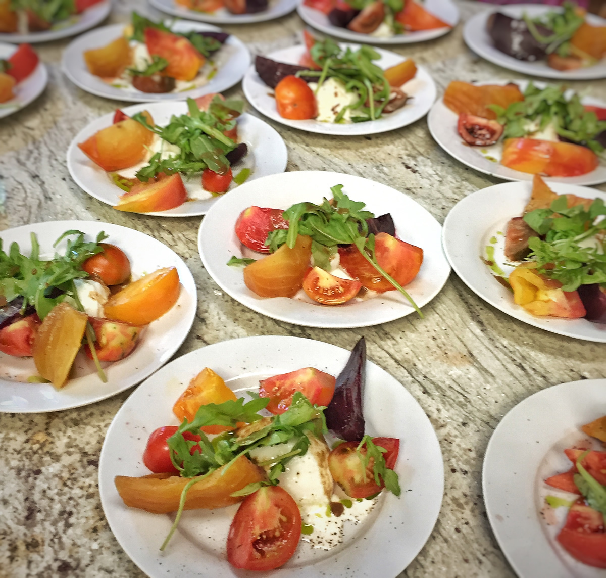 Tomato, Beet, and Burrata Salad