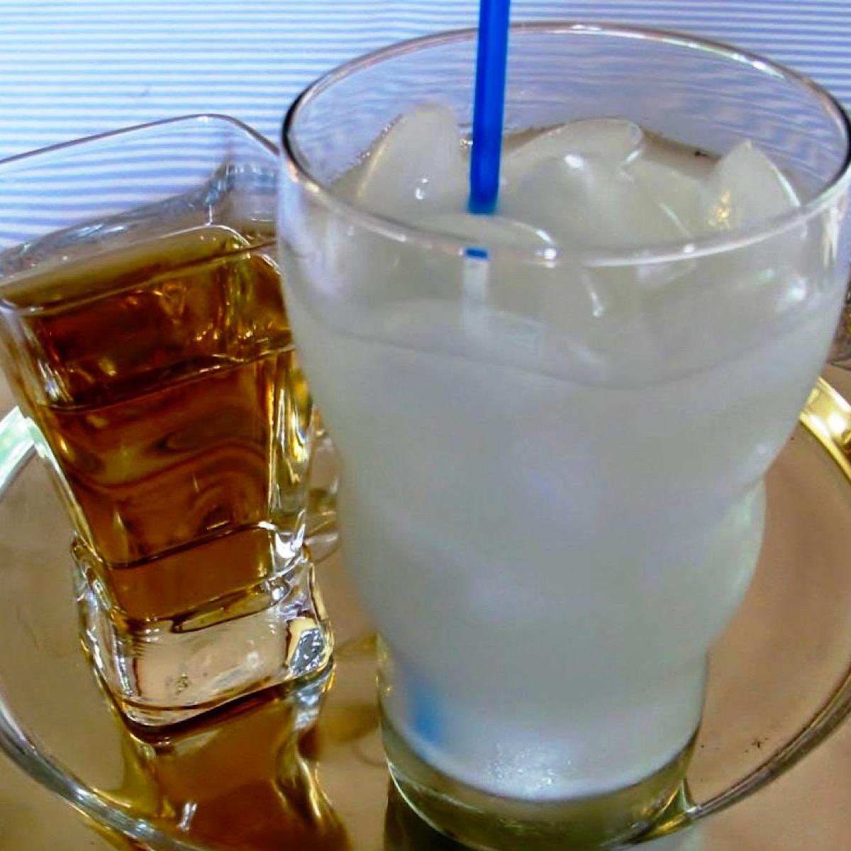 DIY horchata drink with cinnamon-vanilla simple syrup
