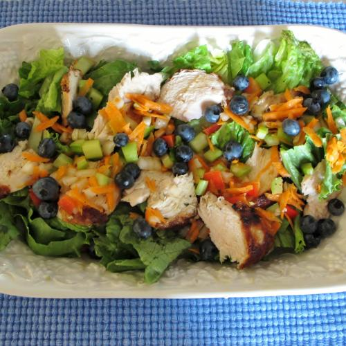 Blueberry Chicken Salad with Bluebery Tarragon Dressing