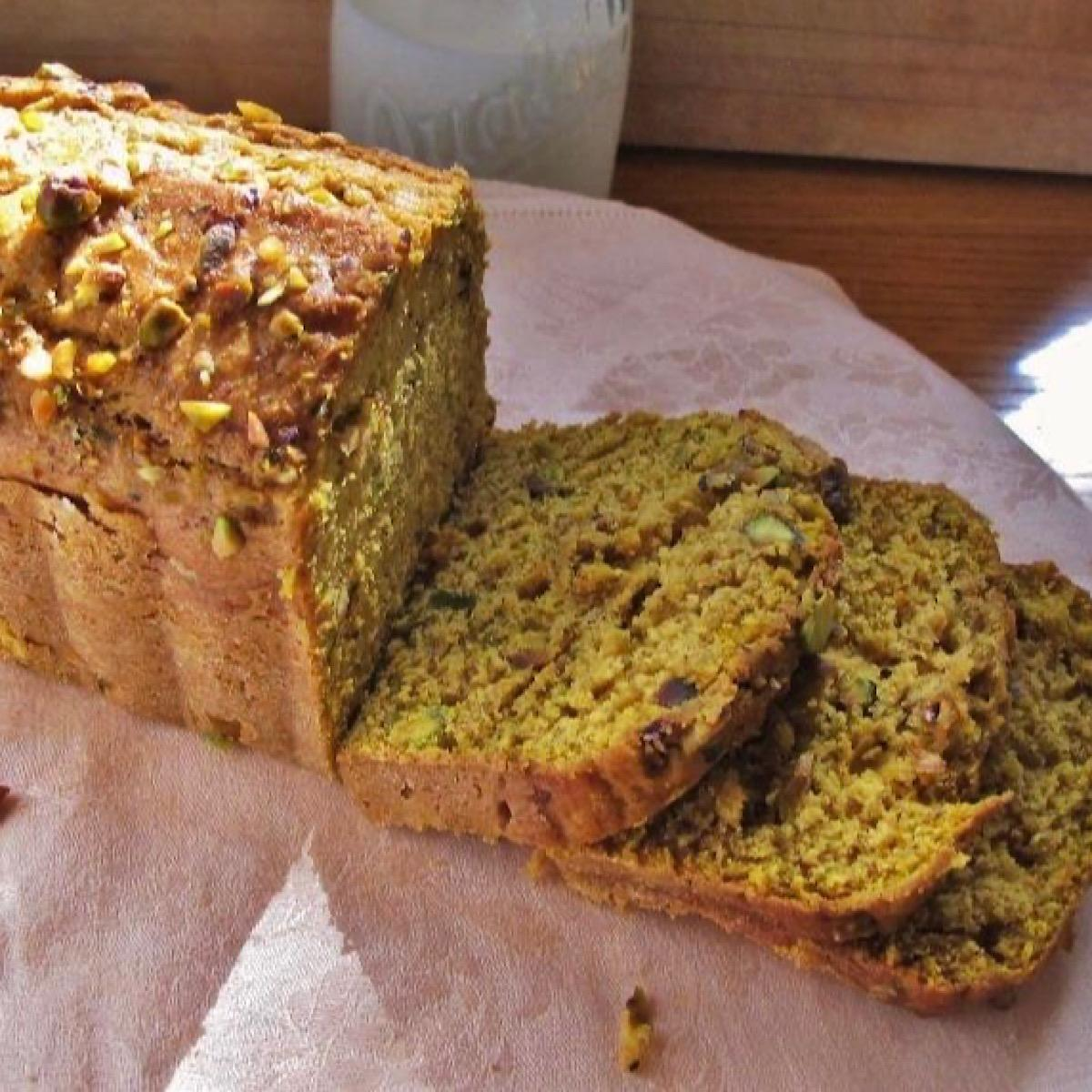 Sliced pieces of Pumpkin Amaretto loaf