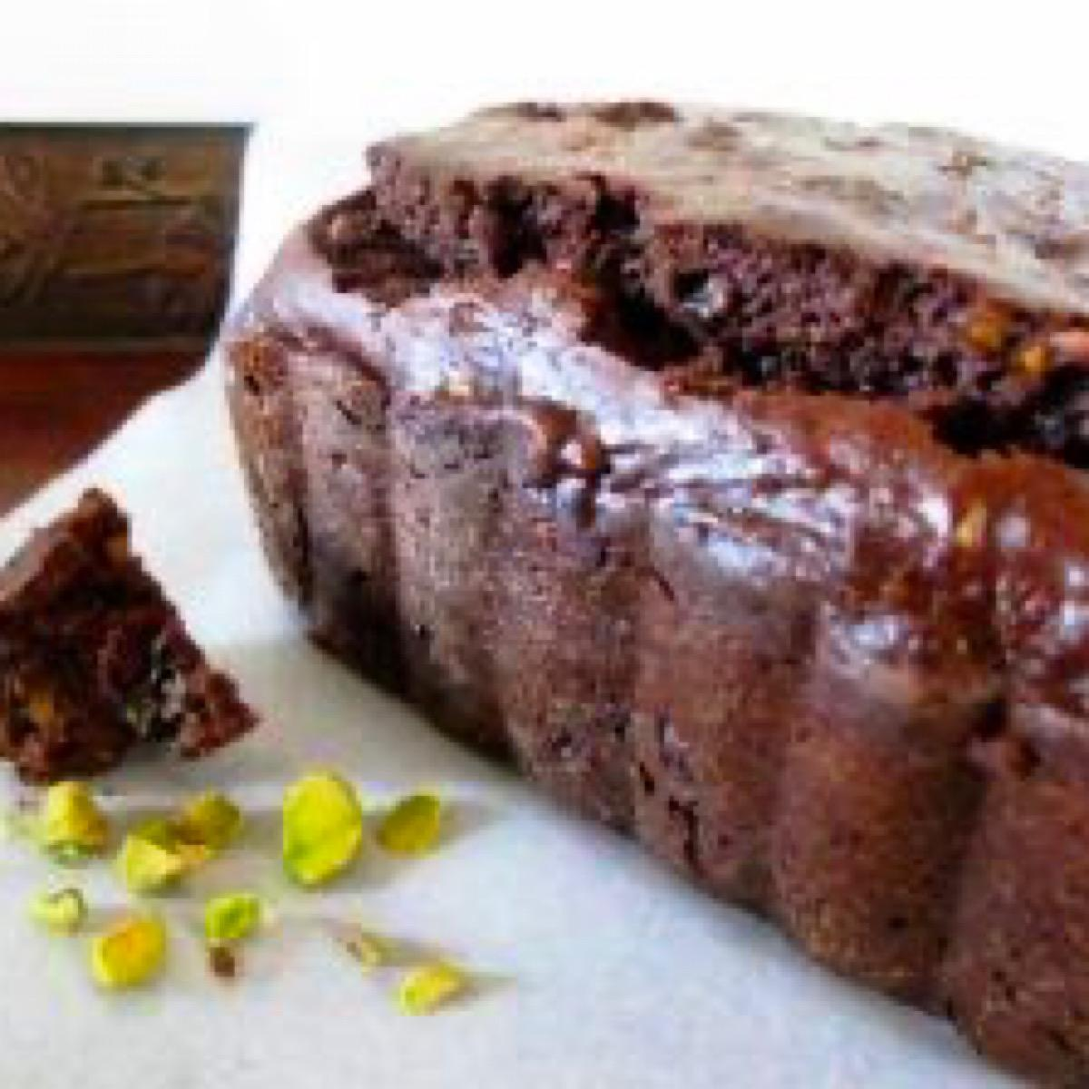 Loaf of chocolate espresso quick bread