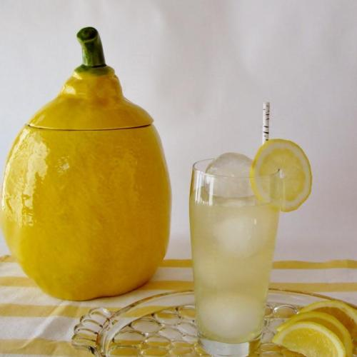 Vodka Collins with Green Tea Simple Syrup
