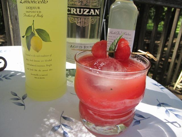 Watermelon Limoncello drink (mojito)