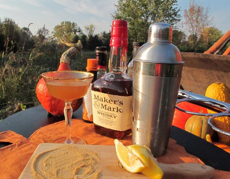 Ingredients for a pumpkin martini