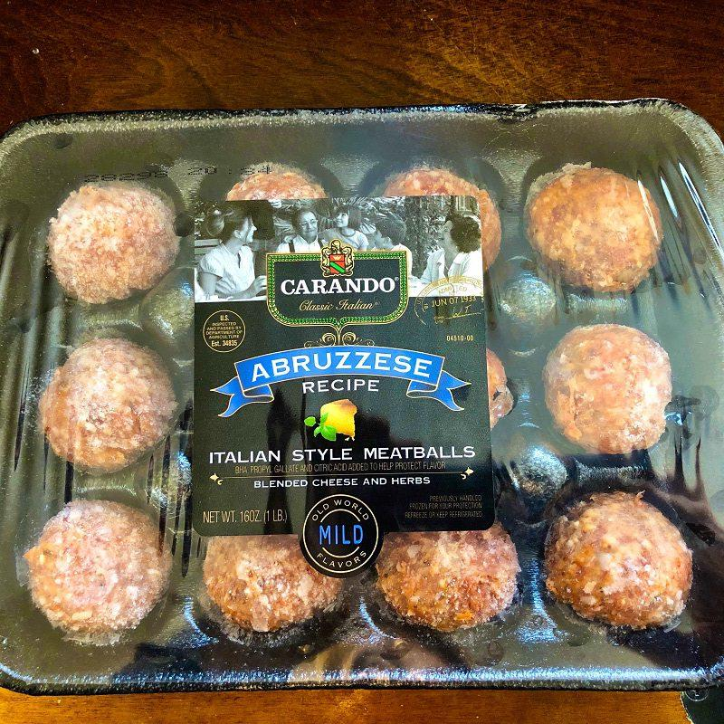 low carb prepared meatballs made with pork