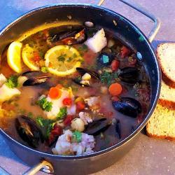 Mexican fish stew - Sopa de Pescado