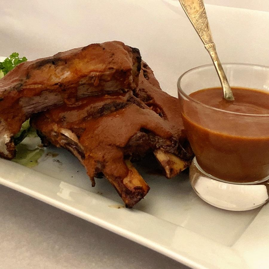 low carb bbq sauce on ribs