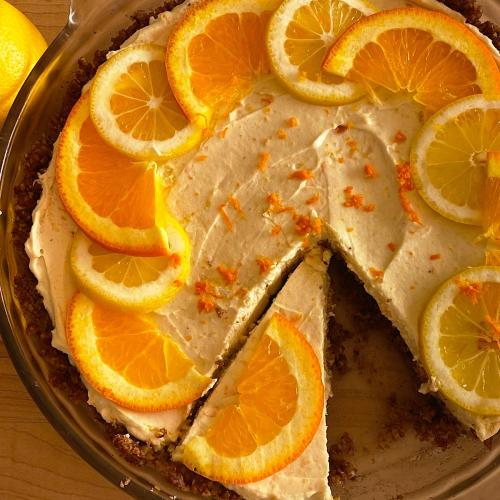 Low carb lemon-orange pie for Easter