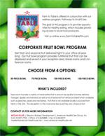 Corporate Fruit Bowl Handout Preview