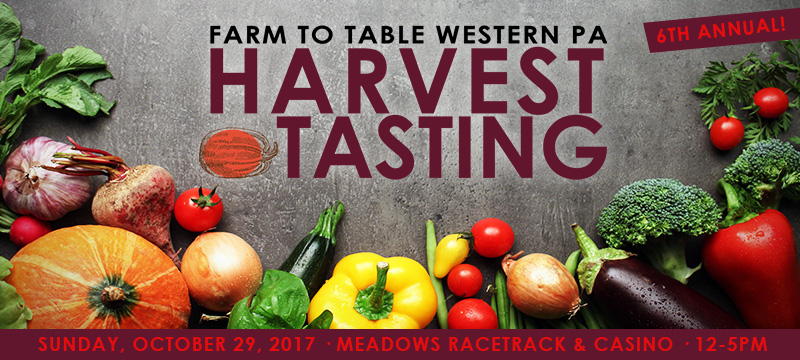 Farm to Table Harvest Tasting – this Sunday – all treats, no tricks!