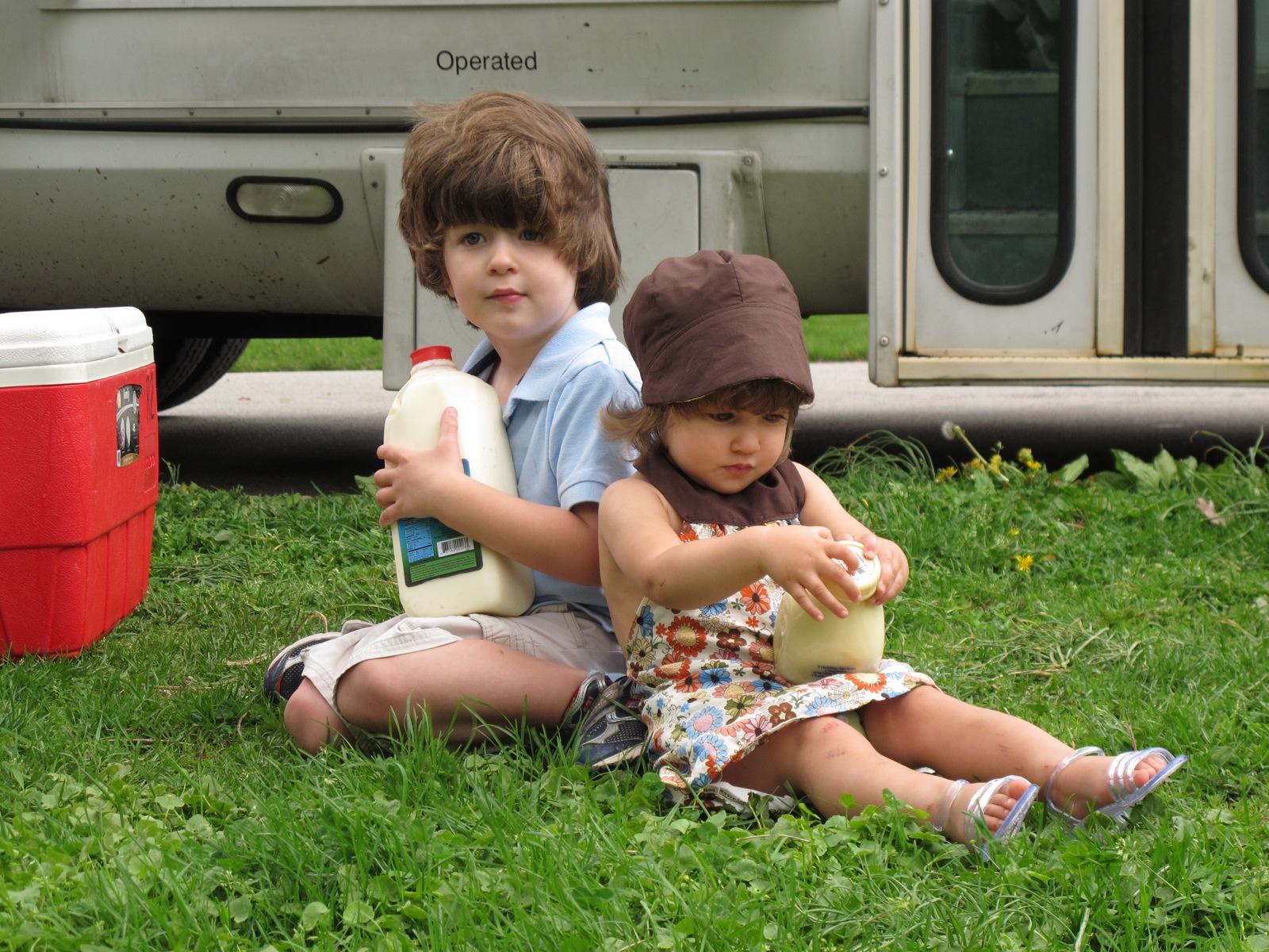 Children love Raw Milk.