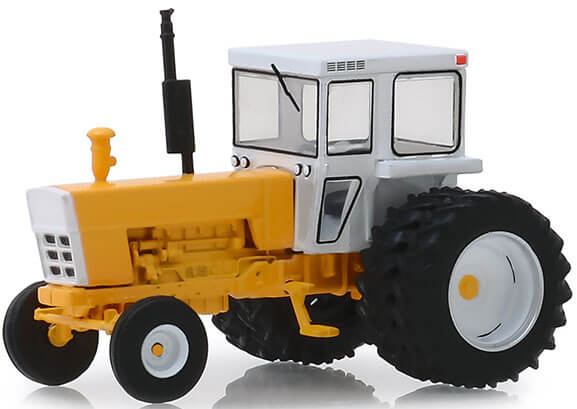 1974 Tractor with Dual Rear Wheels & Cab (Yellow/White)