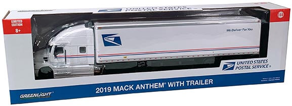 2019 Mack Anthem Tractor Trailer USPS in Package