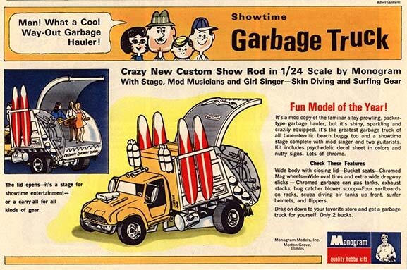 "Monogram ""Garbage Truck"" Advertisement"