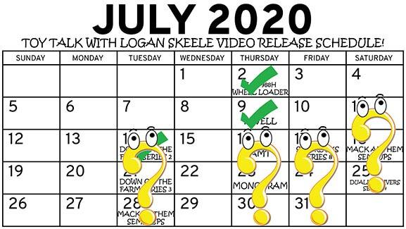July 2020 Toy Talk Video Release Schedule