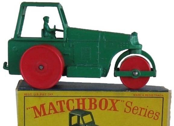 Matchbox Series No. 1 - Green & Red Road Roller