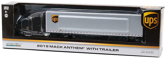 1:64th Scale UPS Mack Anthem Feeder Truck in Package by Greenlight Collectibles